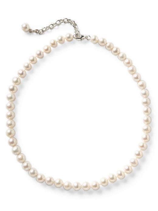 Banana Republic Genuine Freshwater Pearl Choker Necklace - White - Banana Republic Canada