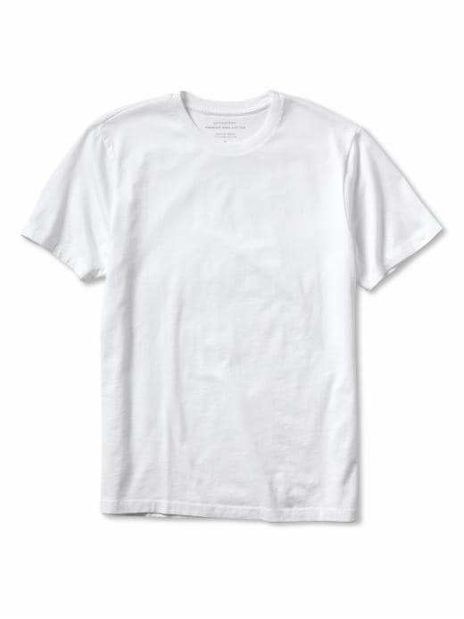 Banana Republic New Pima Cotton Basic Tee - Basic white - Banana Republic Canada