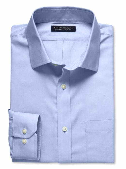 Banana Republic Classic Fit Non-Iron Shirt - Sky blue - Banana Republic Canada