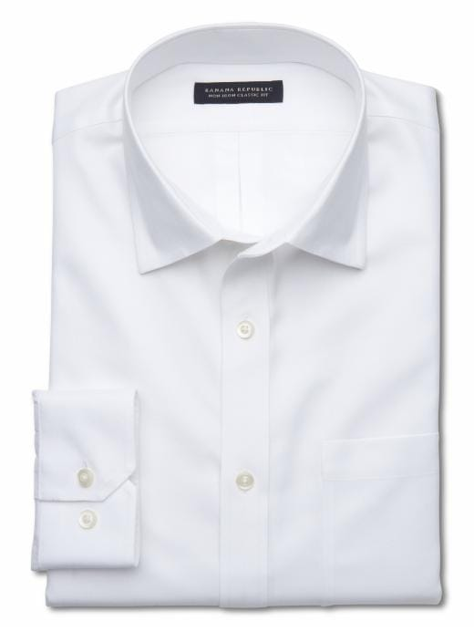Banana Republic Classic Fit Non-Iron Shirt - White - Banana Republic Canada