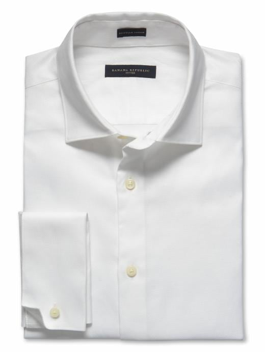Banana Republic Slim Fit Non-Iron Royal Oxford - White - Banana Republic Canada