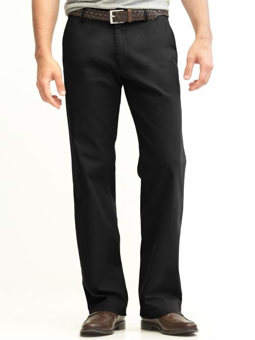 Banana Republic New Straight Gavin Fit Chino - Black - Banana Republic Canada