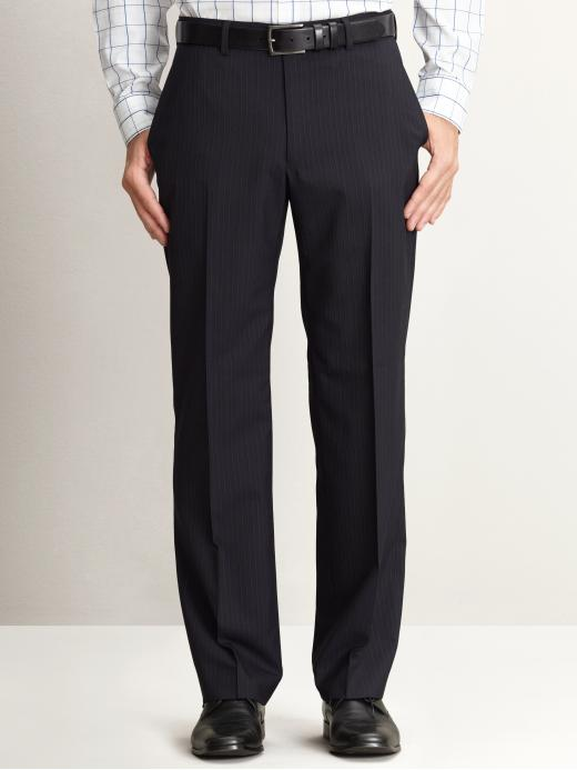Banana Republic Modern Fit Double Pinstripe Suit Pant - Navy - Banana Republic Canada