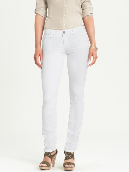 Banana Republic White Skinny Jean - White - Banana Republic Canada