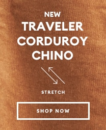 Traveler corduroy chino shop now