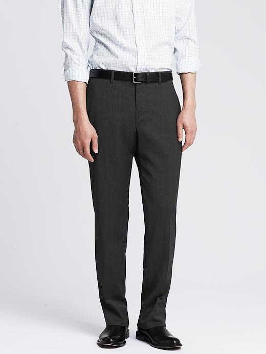 Banana Republic New Charcoal Wool Suit Pant - Charcoal - Banana Republic Canada