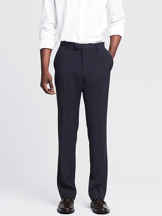 Banana Republic Tailored Navy Wool Suit Pant - Navy - Banana Republic Canada