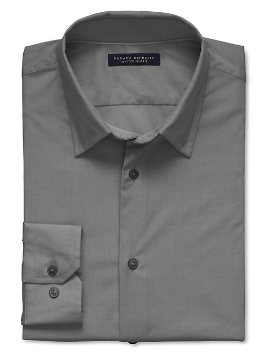 Banana Republic Slim Fit Stretch Dress Shirt - Charcoal - Banana Republic Canada