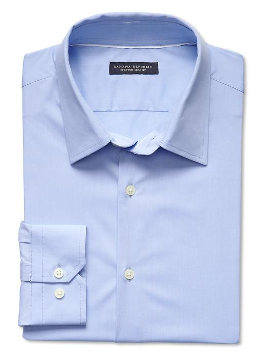 Banana Republic Slim Fit Stretch Dress Shirt - Crystal blue - Banana Republic Canada