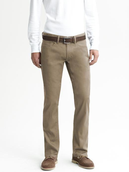 Banana Republic Vintage Straight Five Pocket Pant - Rublo taupe 204 - Banana Republic Canada