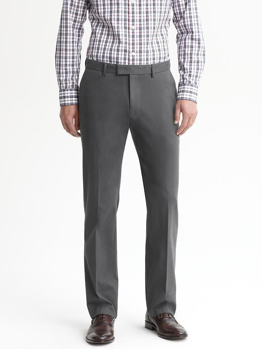 Banana Republic Tailored Slim Cotton Trouser - Charcoal - Banana Republic Canada