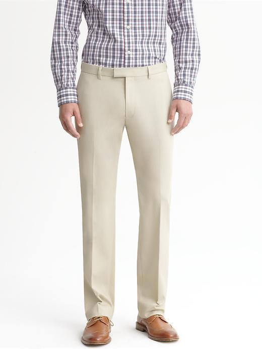 Banana Republic Tailored Slim Cotton Trouser - Dark stone - Banana Republic Canada