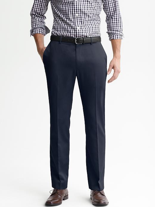 Banana Republic Tailored Slim Non Iron Cotton Pant - Navy - Banana Republic Canada