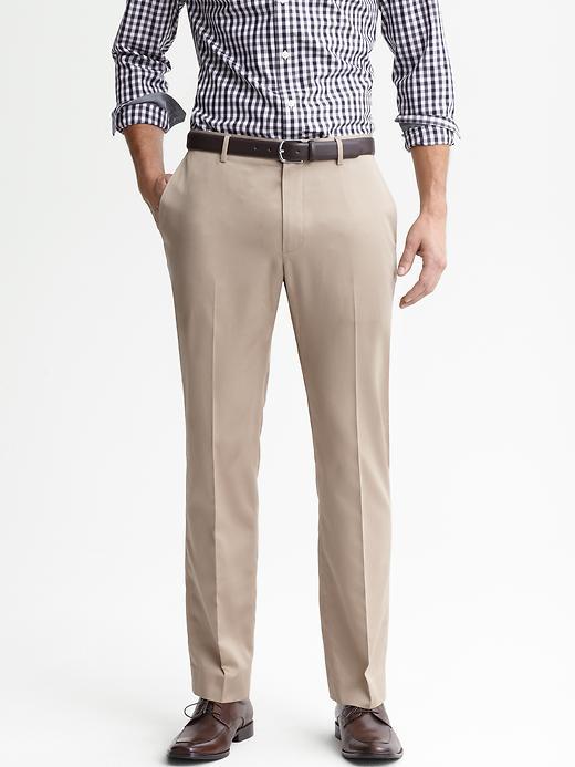 Banana Republic Tailored Slim Non Iron Cotton Pant - Graham cracker - Banana Republic Canada