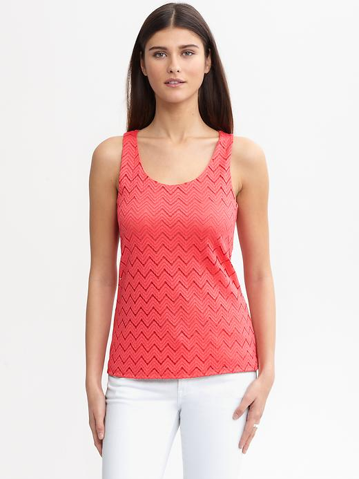 Banana Republic Chevron Lace Tank - Light heliconia - Banana Republic Canada