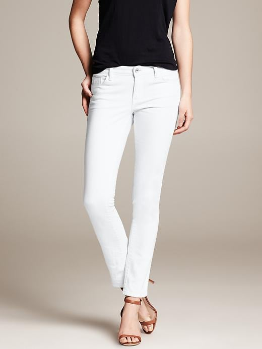 Banana Republic White Skinny Ankle Jean - White - Banana Republic Canada