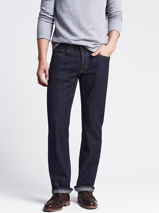 Banana Republic Straight Dark Wash Jean - Indigo - Banana Republic Canada