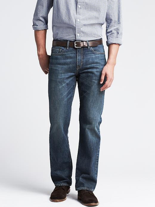 Banana Republic Straight Fit Indigo Jean - Indigo - Banana Republic Canada