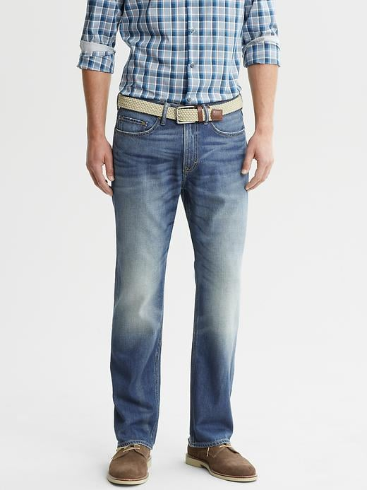 Banana Republic Straight Fit Light Indigo Jean - Light indigo - Banana Republic Canada