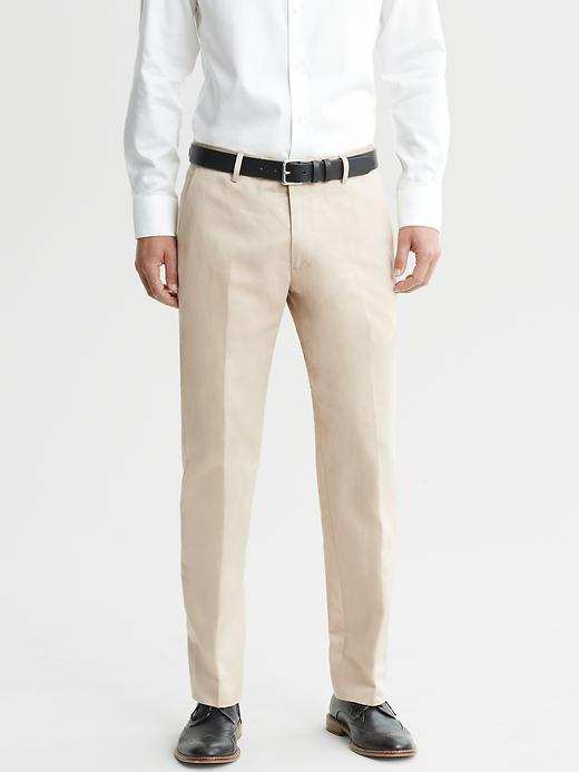 Banana Republic Tailored Chino Suit Pant - Light khaki - Banana Republic Canada
