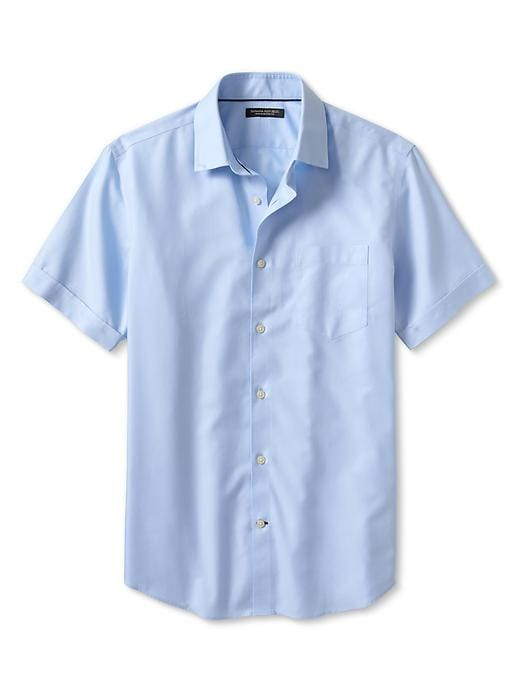 Banana Republic Non Iron Short Sleeve Shirt - Sky blue - Banana Republic Canada