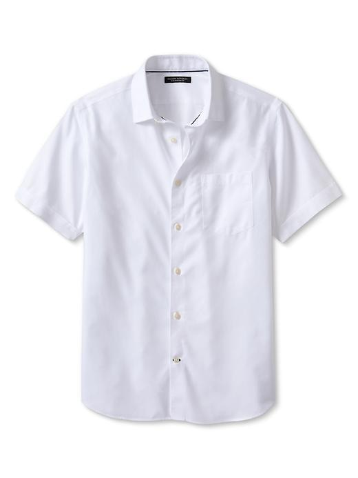 Banana Republic Non Iron Short Sleeve Shirt - White - Banana Republic Canada