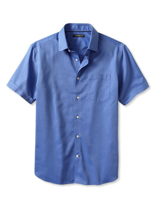 Banana Republic Non Iron Short Sleeve Shirt - Medium blue - Banana Republic Canada