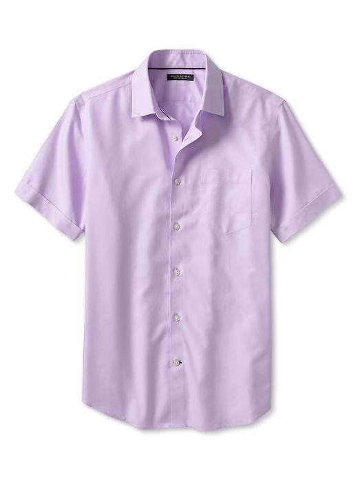 Banana Republic Non Iron Short Sleeve Shirt - Lilac - Banana Republic Canada