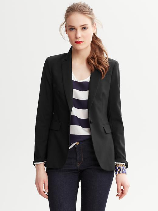 Banana Republic Black Lightweight Wool Blazer - Black - Banana Republic Canada
