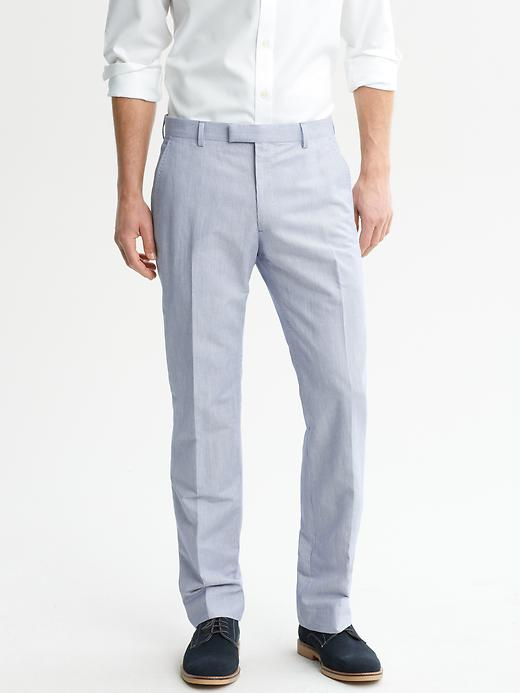 Banana Republic Tailored Navy Micro Stripe Suit Trouser - Navy - Banana Republic Canada