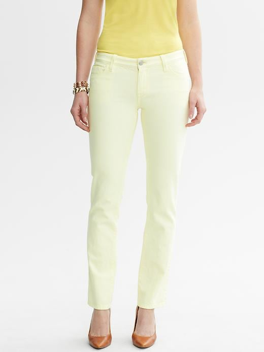 Banana Republic Pastel Skinny Ankle Jean - Pale yellow - Banana Republic Canada