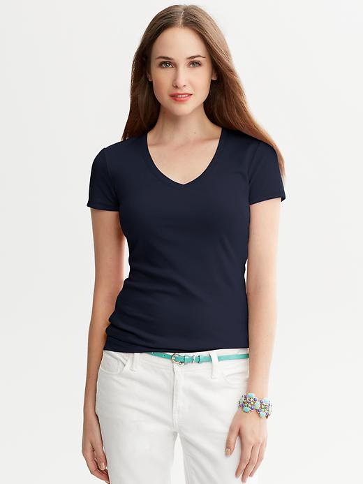 Banana Republic Timeless V Neck Tee - True navy - Banana Republic Canada