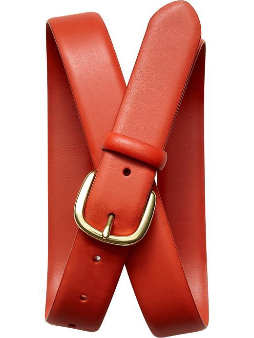 Banana Republic Leather Belt - Orange - Banana Republic Canada