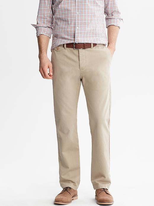 Banana Republic Heritage Flap Pocket Chino - Graham cracker - Banana Republic Canada