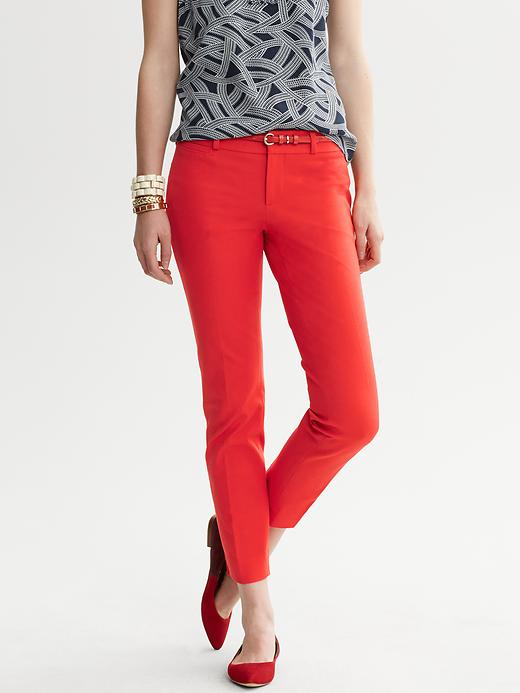 Banana Republic Sloan Fit Slim Ankle Pant - New vermillion - Banana Republic Canada