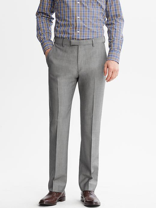 Banana Republic Tailored Fit Grey Wool Suit Trouser - Light grey - Banana Republic Canada