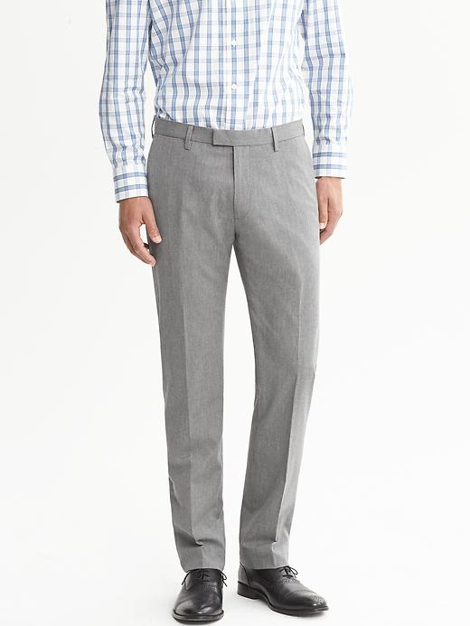 Banana Republic Modern Slim Fit Micro Stripe Dress Pant - Light grey - Banana Republic Canada
