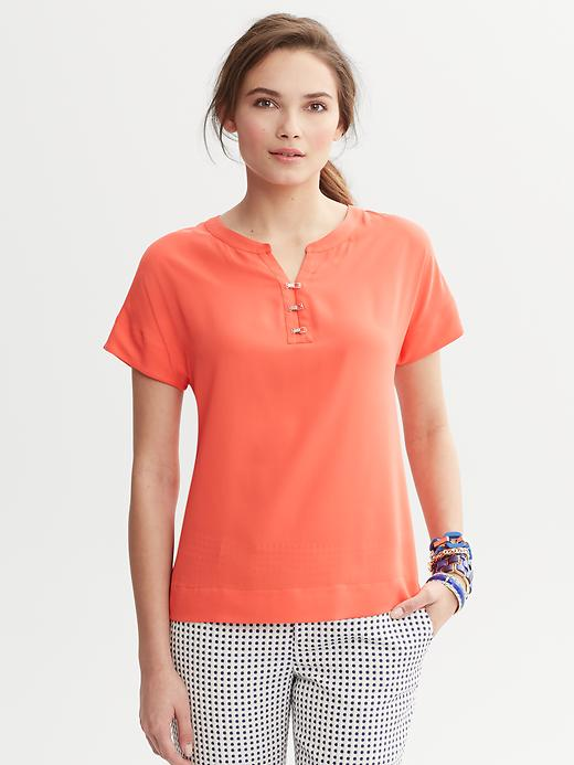 Banana Republic Clip Front Top - Lava - Banana Republic Canada