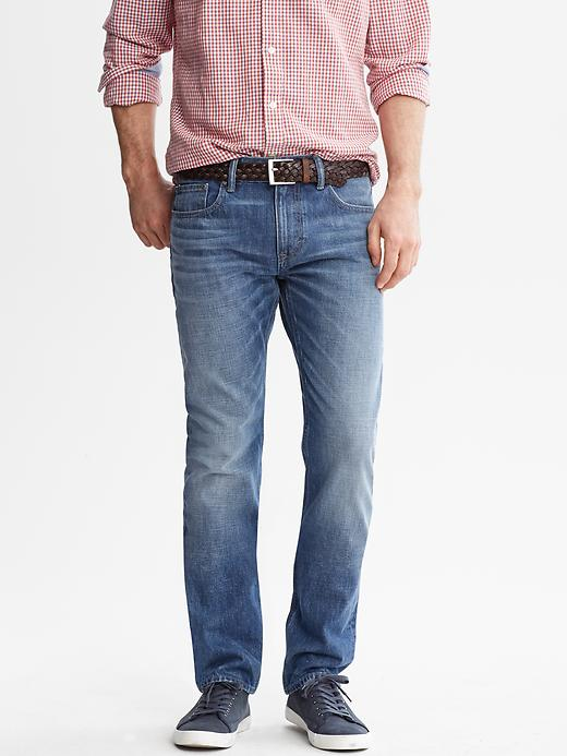 Banana Republic Premium Slim Straight Light Wash Jean - Light wash - Banana Republic Canada