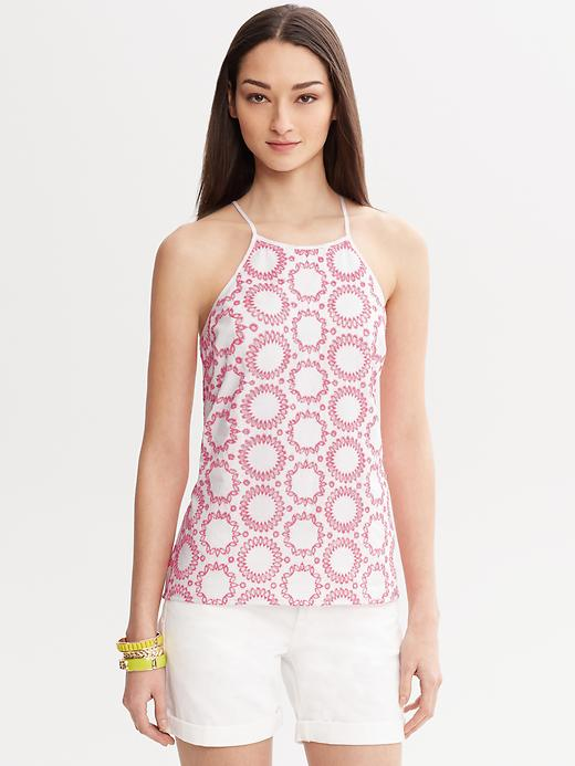 Banana Republic Milly Collection Circle Embroidered Top - White - Banana Republic Canada
