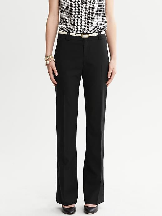 Banana Republic Jackson Fit Black Lightweight Wool Trouser - Black - Banana Republic Canada