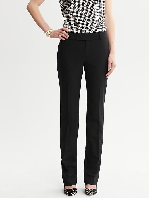 Banana Republic Martin Fit Black Lightweight Wool Straight Leg - Black - Banana Republic Canada