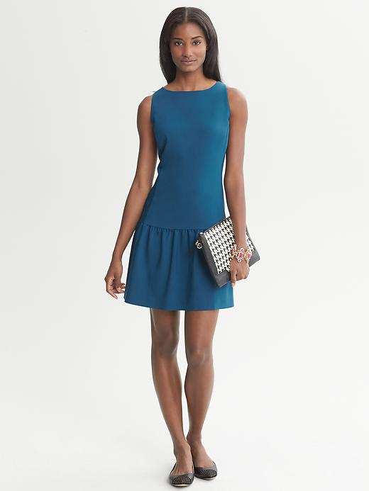 Banana Republic Ava Drop Waist Dress - Tulum turquoise - Banana Republic Canada