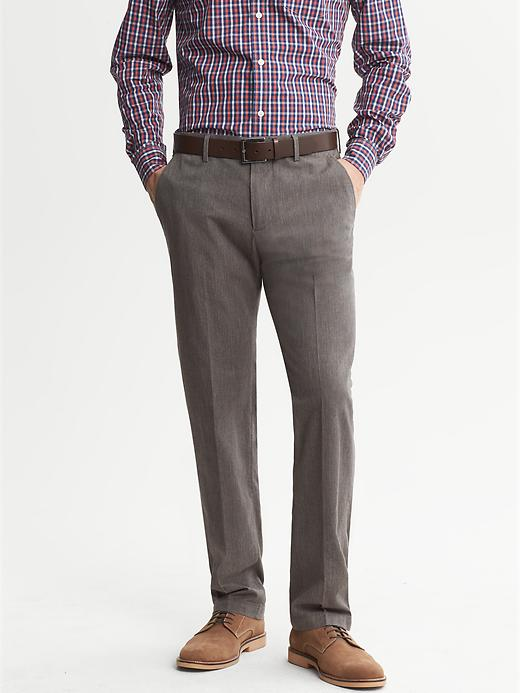 Banana Republic Kentfield Herringbone Chino - Brown combo - Banana Republic Canada