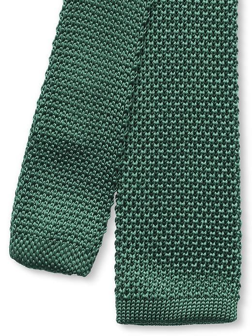Banana Republic Knit Silk Skinny Tie - Emerald green - Banana Republic Canada