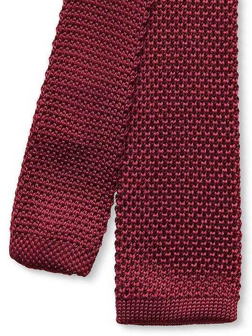Banana Republic Knit Silk Skinny Tie - Rust red - Banana Republic Canada