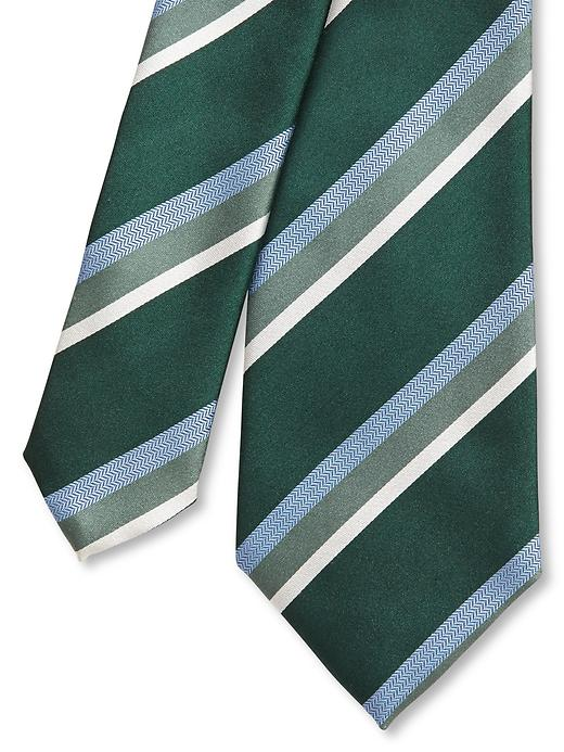 Banana Republic Andrew Striped Silk Tie - Green - Banana Republic Canada