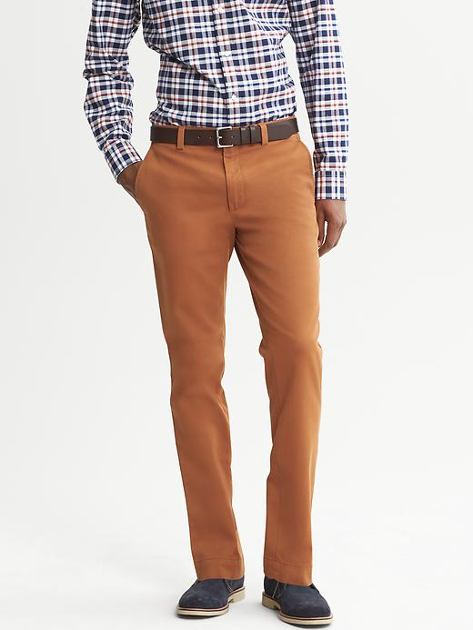 Banana Republic Aiden Slim Fit Chino - Burnt orange - Banana Republic Canada