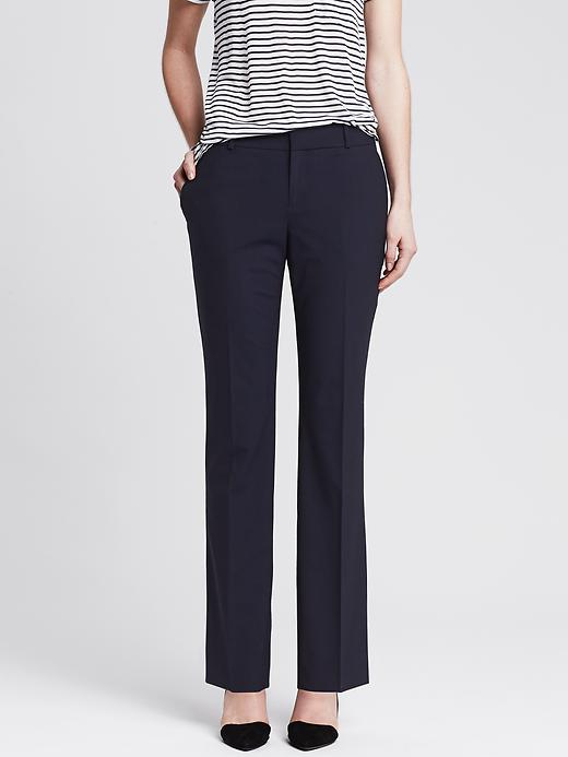 Banana Republic Martin Fit Navy Lightweight Wool Slim Ankle Pant - Navy - Banana Republic Canada
