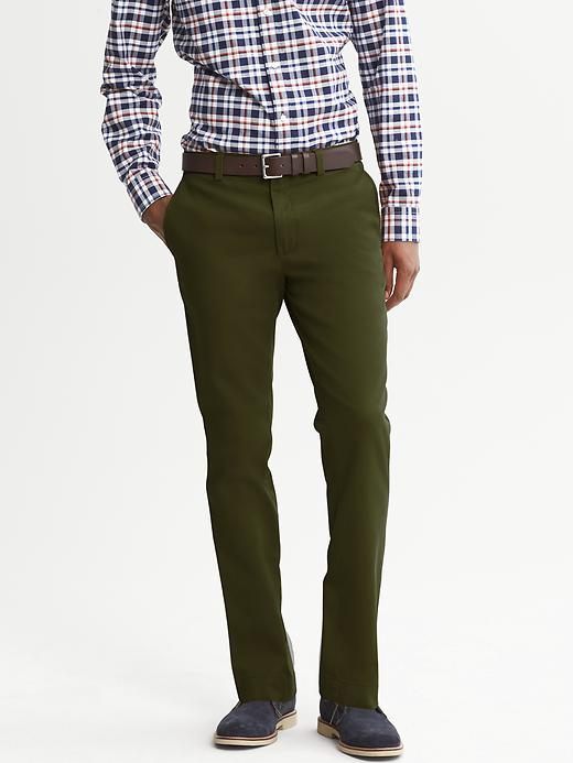 Banana Republic Aiden Slim Fit Chino - Rangoon green - Banana Republic Canada